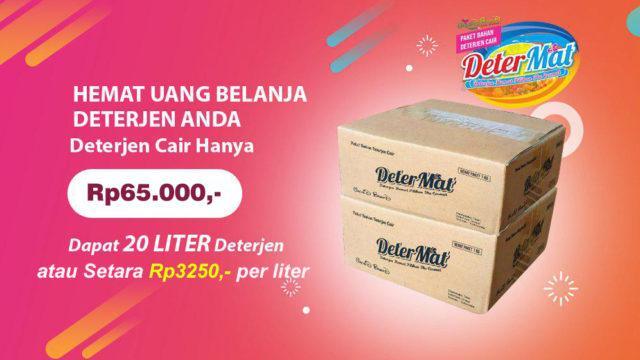 Jual Paket Bahan Deterjen Cair Matic Ramah Lingkungan | DETERMAT